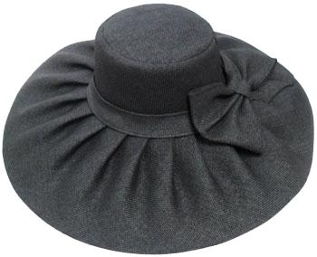 a2229fc9cbfeb ladies wide brim straw hat  black